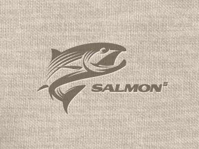 logo fish logo illustration vector animal river sea salmon fishing t-shirt fish screen printing texture letterpress