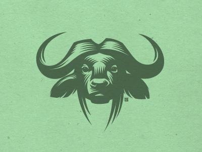buffalo logo illustration logo vector bull buffalo animal mascot t-shirt screen printing texture head africa letterpress print label mark
