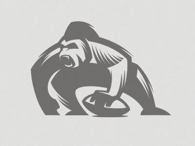 Gorilla mascot letterpress