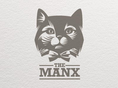 Cat logo letterpress