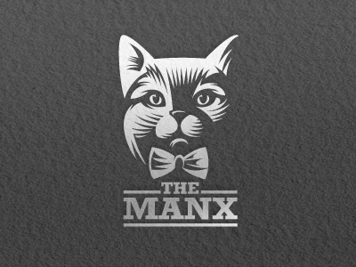 Cat logo letterpress logo vector illustration game mascot animals cat screen printing letterpress casino black gold
