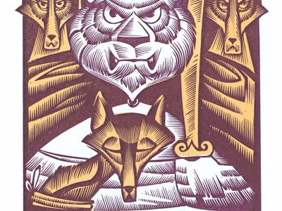 Reynard Fox Letterpress Print