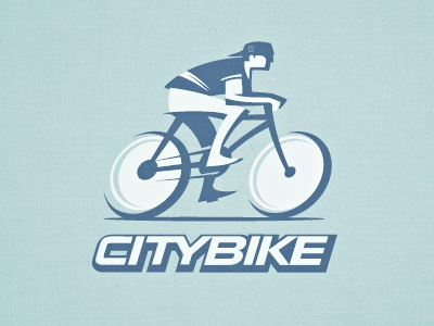 Logo City Bike t-shirt logo vector illustration sport bike rentals city letterpress
