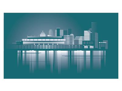 American Vector city Cincinnati website architecture illustration logo vector building skyscraper sport arena office football championship ohio us