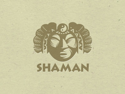 Logo Shaman Letterpess letterpress logo illustration vector fish fishing t-shirt fly fishing salmon trout nature tourism trade mark. mascot