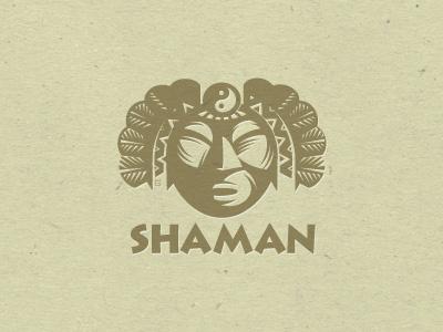 Logo Shaman Letterpess letterpress logo illustration vector fish fishing t-shirt fly fishing salmon trout nature tourism trade mark. mascot