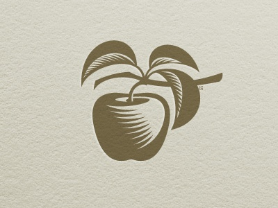 Apple Letterpress Marks marks apple letterpress logo vector illustration garden fruit