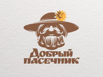 Logo Shop Honey face logo vector illustration honey