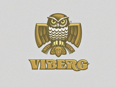 Logo Owl Beer WIP logo vector illustration animal owl wheat forest nature bird beer