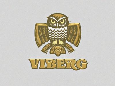 Logo Owl Beer WIP logo vector illustration animal owl wheat forest nature bird beer