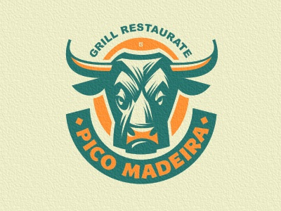Logo Bull Restaurant marks bar food bull animal logo vector illustration restaurant grill