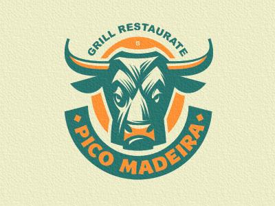 Logo Bull Restaurant marks bar food bull animal logo vector illustration restaurant grill