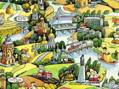 Illustration Map Ukraine ukraine country illustration dnipro river tourism