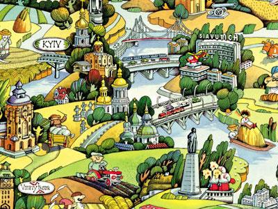 Illustration Map Ukraine ukraine country illustration dnipro river tourism