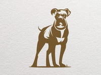 Dog Boxer Letterpress