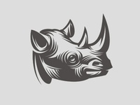 Rhino, illustration t-shirts logo animal africa etterpress