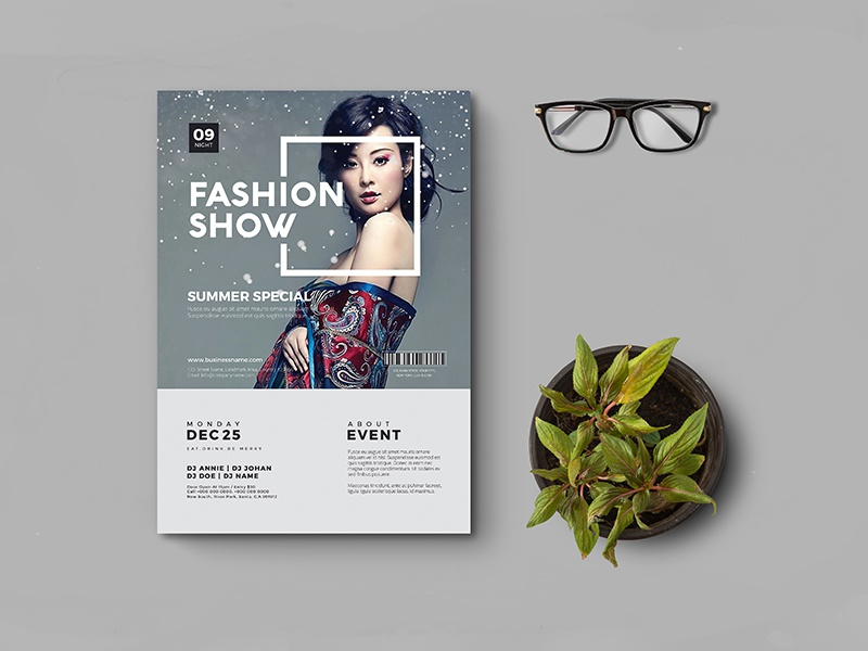 this is a professional clean creative a4 fashion flyer template designed to make a good impression you can edit easily this flyer - Fashion Brochure Template