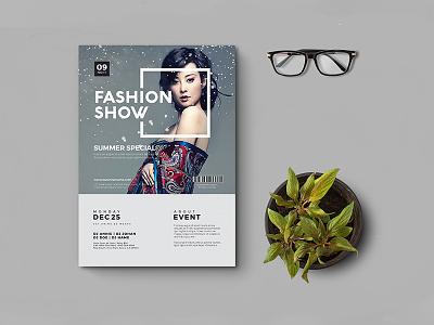 Fashion Flyer trendy trends stylish style show poster photoshoot model fashion show fashion flyer fashion catwalk