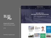 UI Design for Blog Website