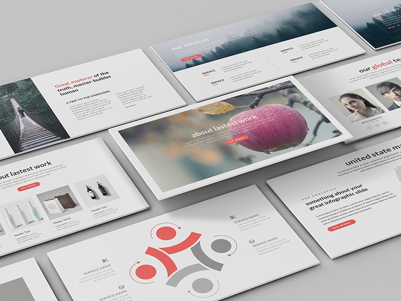 Time PowerPoint Template pptx ppt clean simple minimal modern creative template powerpoint time