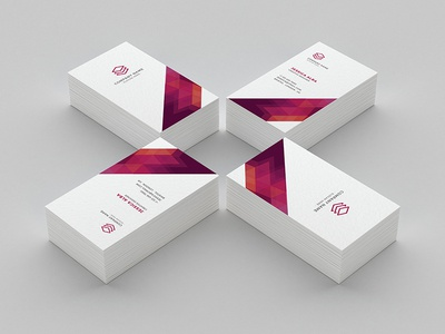 Business card by omega labs dribbble modern simple and unique layouts with strong typography make your business cards look professional its available in front and rear portrait format reheart