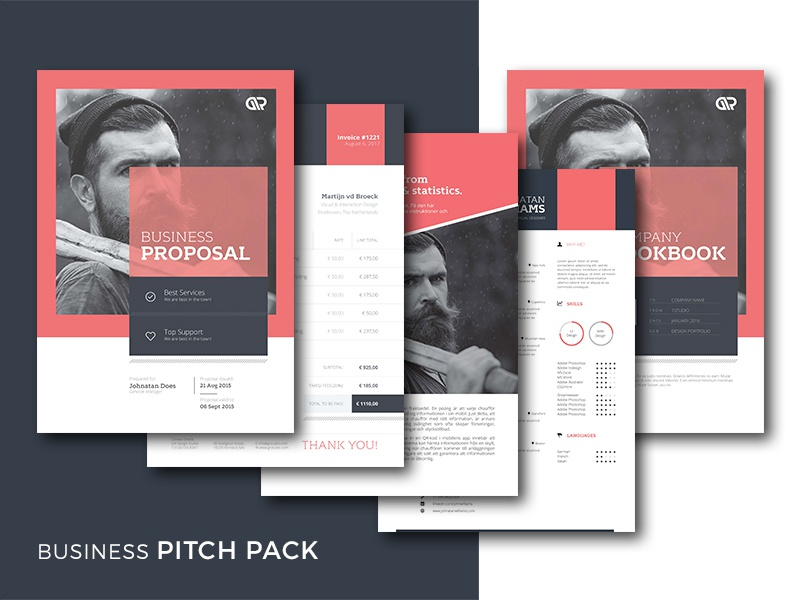Business Pitch Pack business sheet product brochure profile portfolio mood estimate brief invoice cv resume proposal pack pitch
