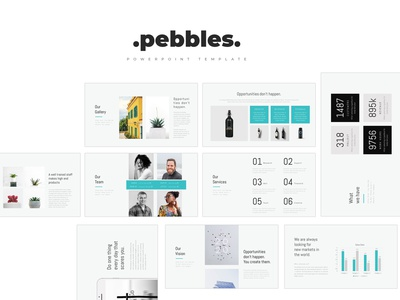 Pebbles PowerPoint Template freebie pitchdeck pitch deck design deck pitch minimal simple infographic chart