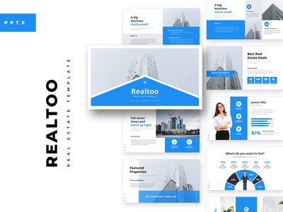 Realtoo Real Estate PowerPoint Template realestate