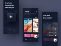 Exploration - save and browse all your inspiration in one place ui capture color moodboard url design application ios dark mobile inspiration camera app