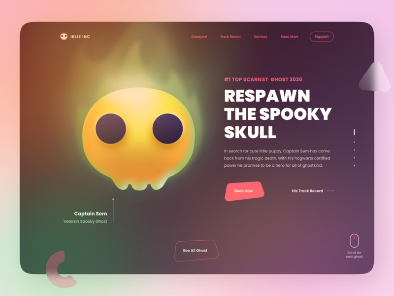 Ghost Agency - Free Halloween Kit - Figma Community 2d 3d flat figma community skull ghost halloween hero character isometric web design page landing illustration cute