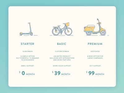 Pricing #dailyui 01 pricing card pricing table illustrations outline line experience interface user ux pricing ui
