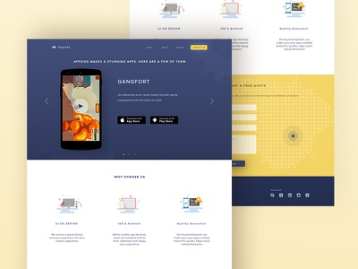 Appside Landing page app icons web startup illustrations experience interface user ux ui page landing