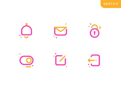 App Icon Freebie logo line free ios ux ui colorful freebie icon app