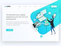 dotCMS Homepage - Hero Exploration