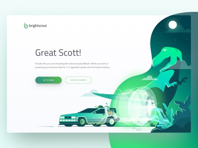 404 Lost Page Brightscout 404 lost page dinosaur missing error trex time travel illustration