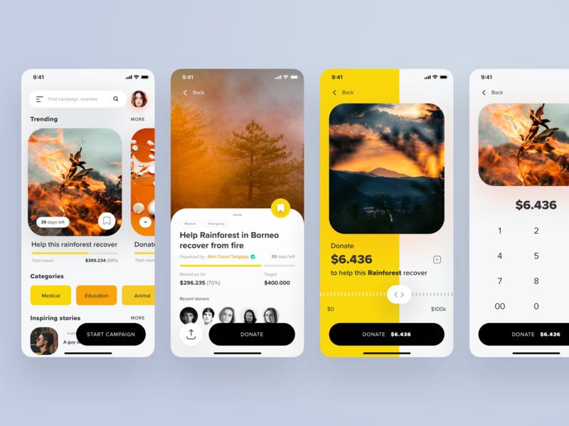 A Crowdfund Campaign App by Zazuly Aziz for Pixelz on Dribbble