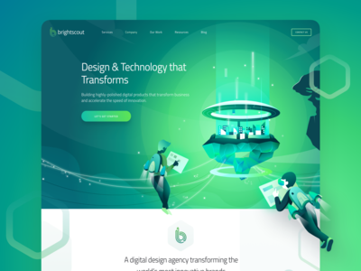 New Illustration For Brightscout Homepage