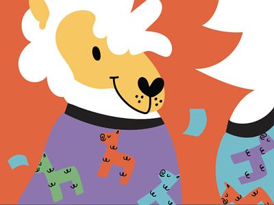 Llama characters illustration