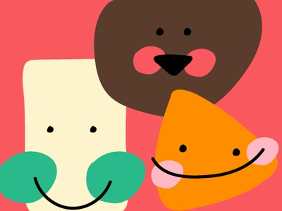 my little friends graphic doodle color character characters design minimal illustration