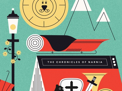 Narnia narnia vector graphic characters doodle color illustration