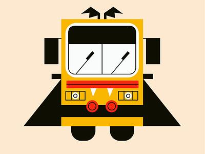 Blah...blahh blahh vector inktober vampire bus halloween characters character graphic minimal illustration