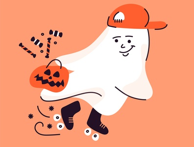 a ghostie inktober halloween character iconography doodle graphic characters vector minimal illustration