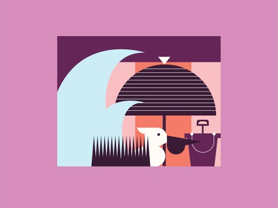 beach snippet beach waves design color graphic minimal illustration