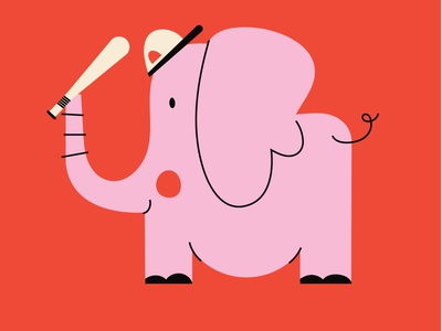 animals play sports kids baseball sports zoo character design color graphic characters minimal illustration