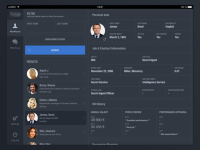 HR dashboard app