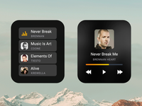 Music App Concept for Apple Watch