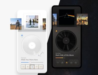 Retro Music Player App Concept mobile light mode dark mode music player ui player ui neumorphism retro music application music app music player music player app