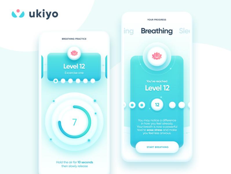 Ukiyo Mindfulness and Wellness mobile app healthcare app health app healthcare medicine medical app meditation app medical app mobile wellness fitness health sleep breathing meditation