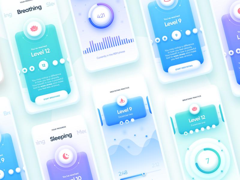 Ukiyo Mindfulness and Wellness app app breathing fitness health health app healthcare healthcare app medical medical app medicine meditation meditation app mobile sleep wellness