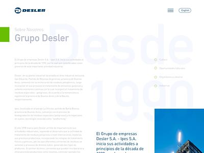 Desler / About us web tipography ui design